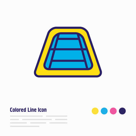 Vector illustration of tennis court icon colored line. Beautiful vacation element also can be used as pitch icon element.