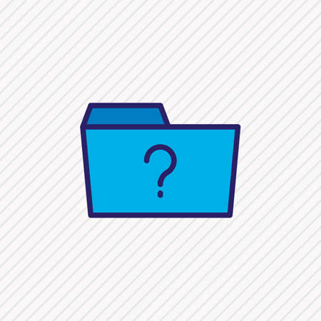 Vector illustration of question icon colored line. Beautiful folder element also can be used as missed folder icon element. Illustration