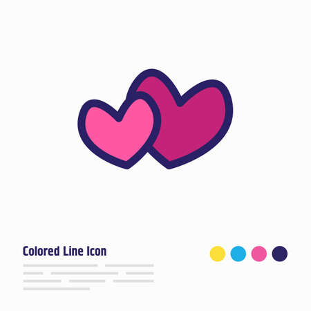 Vector illustration of hearts icon colored line. Beautiful joy element also can be used as love icon element.