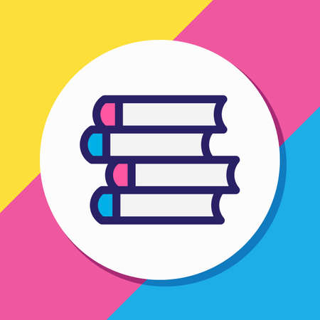 Vector illustration of publish icon colored line. Beautiful book reading element also can be used as schoolbook icon element.