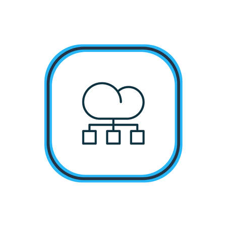 Vector illustration of structure icon line. Beautiful marketing element also can be used as cloud distribution icon element. Illustration
