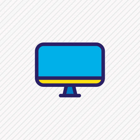 Vector illustration of monitor icon colored line. Beautiful hobby element also can be used as screen icon element.