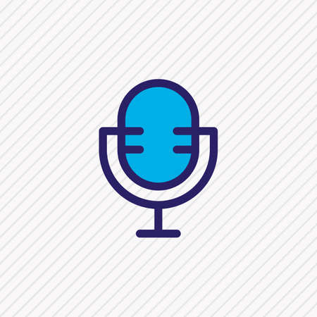 Vector illustration of mic icon colored line. Beautiful party element also can be used as microphone icon element.