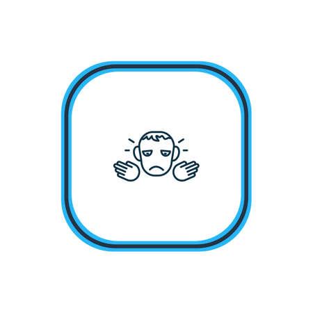 Vektor-Illustration der bedauerlichen Symbollinie. Schönes Emotionselement kann auch als Pessimismus-Symbolelement verwendet werden.