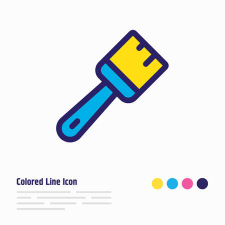 Vector illustration of brush icon colored line. Beautiful industry element also can be used as paintbrush icon element.