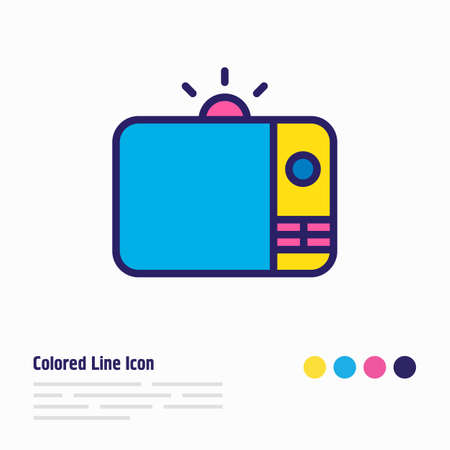 Vector illustration of tv icon colored line. Beautiful advertising element also can be used as television icon element. Illustration