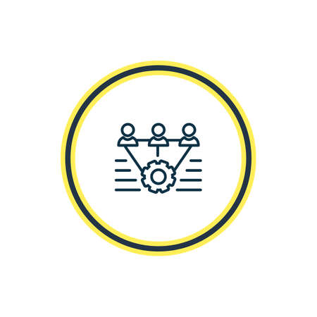 Vector illustration of teamwork icon line. Beautiful emoji element also can be used as mechanism icon element.