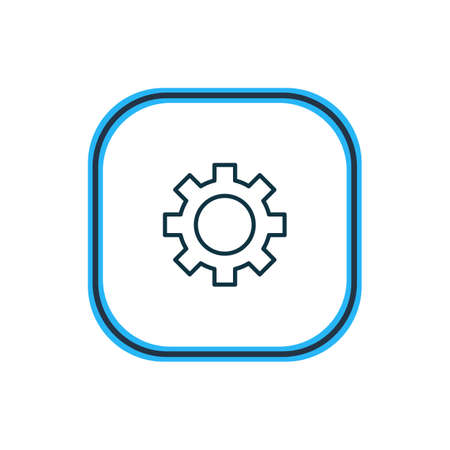 Vector illustration of gear icon line. Beautiful structure element also can be used as cogwheel icon element.