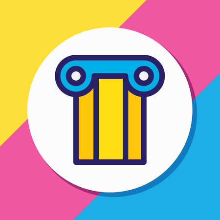 Vector illustration of column icon colored line. Beautiful industry element also can be used as pillar icon element.