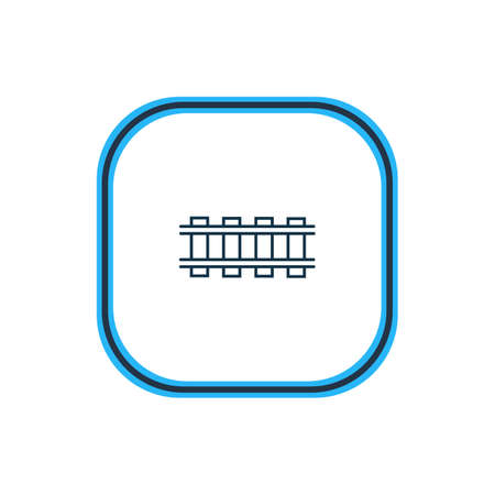 Vector illustration of railway icon line. Beautiful transportation element also can be used as railroad icon element.