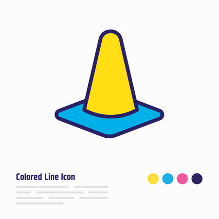 Vector illustration of cone icon colored line. Beautiful emergency element also can be used as obstacle icon element.