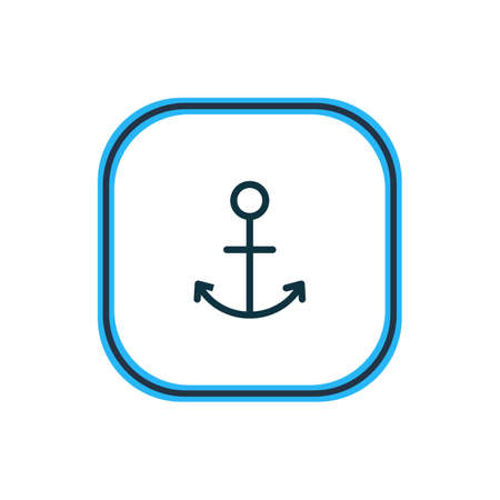 Vector illustration of anchor icon line. Beautiful entertainment element also can be used as armature icon element.