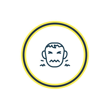 illustration of disgust icon line. Beautiful emoji element also can be used as frustrated icon element. Stock Photo