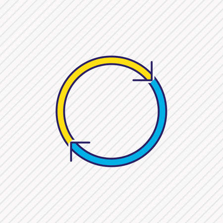 Vector illustration of reload icon colored line. Beautiful web element also can be used as refresh icon element.