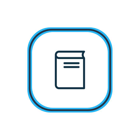 Vector illustration of novel icon line. Beautiful read element also can be used as textbook icon element.