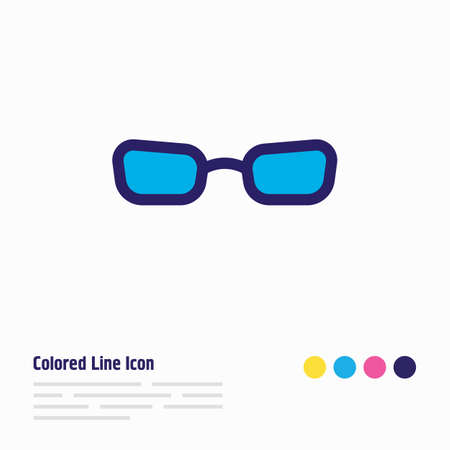 Vector illustration of glasses icon colored line. Beautiful lifestyle element also can be used as sunglasses icon element.