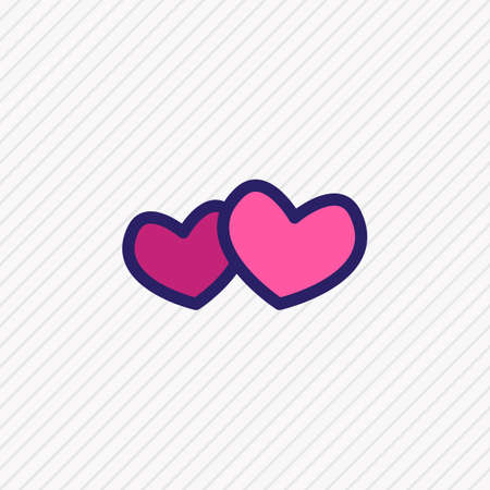 Vector illustration of hearts icon colored line. Beautiful hobby element also can be used as love icon element.
