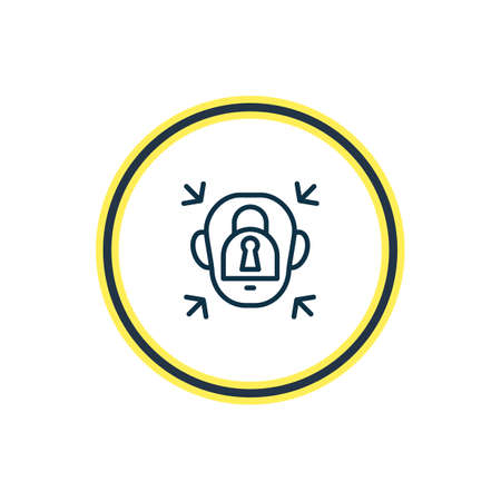 Vector illustration of emotionally blocked icon line. Beautiful emotions element also can be used as padlock icon element.