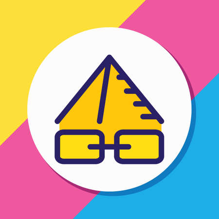 Vector illustration of link pyramid icon colored line. Beautiful advertising element also can be used as protection icon element. Illustration
