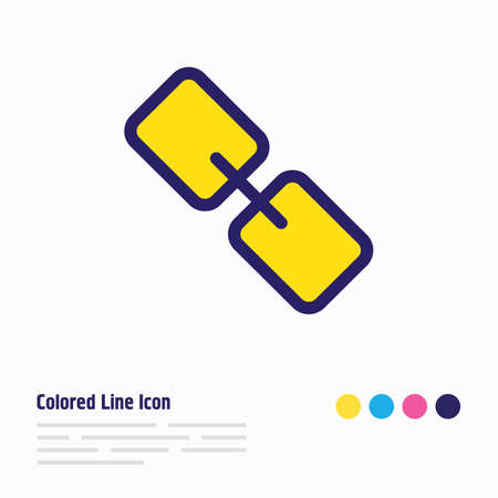 Vector illustration of link icon colored line. Beautiful annex element also can be used as chain icon element.