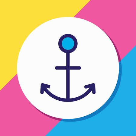 Vector illustration of anchor icon colored line. Beautiful joy element also can be used as naval icon element. Illusztráció