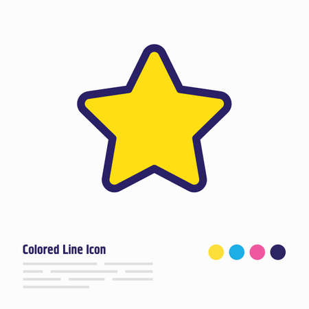 illustration of star icon colored line. Beautiful hobby element also can be used as favorite icon element. Reklamní fotografie