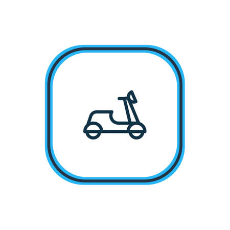 illustration of motorcycle icon line. Beautiful transport element also can be used as motorbike icon element. Stock Photo