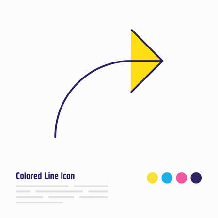 Vector illustration of share icon colored line. Beautiful user element also can be used as send icon element.