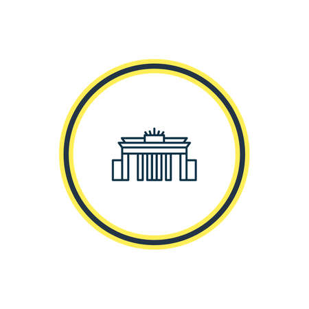Vector illustration of brandenburg gate icon line. Beautiful culture element also can be used as architectural icon element.