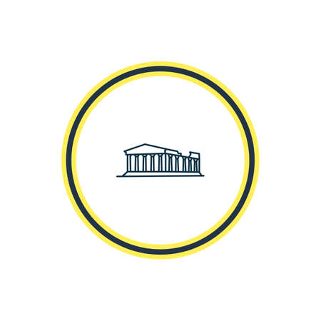 Vector illustration of acropolis icon line. Beautiful history element also can be used as athens icon element. Illustration