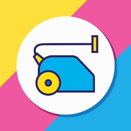Vector illustration of vacuum cleaner icon colored line. Beautiful tourism element also can be used as sweeper icon element.
