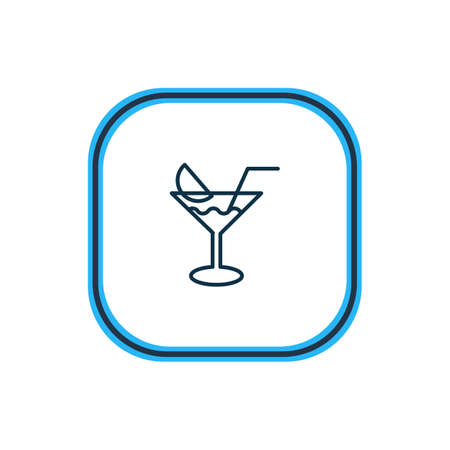 Vector illustration of cocktail icon line. Beautiful hobby element also can be used as martini icon element.