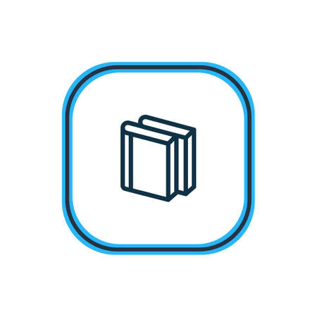 Vector illustration of literature icon line. Beautiful book element also can be used as book collection icon element. Stock Illustratie