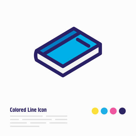 Vector illustration of dictionary icon colored line. Beautiful education element also can be used as copybook icon element.