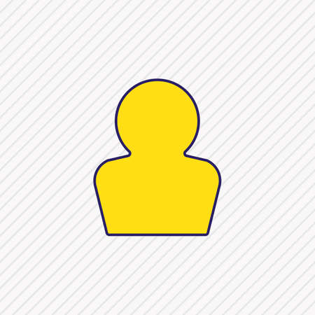 Vector illustration of profile icon colored line. Beautiful interface element also can be used as account icon element. Фото со стока