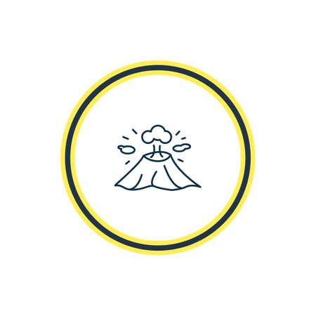 illustration of vesuvio icon line. Beautiful culture element also can be used as volcano icon element.