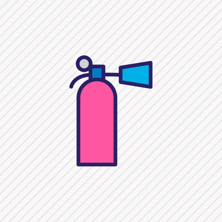Vector illustration of fire extinguisher icon colored line. Beautiful necessity element also can be used as flame safety icon element.
