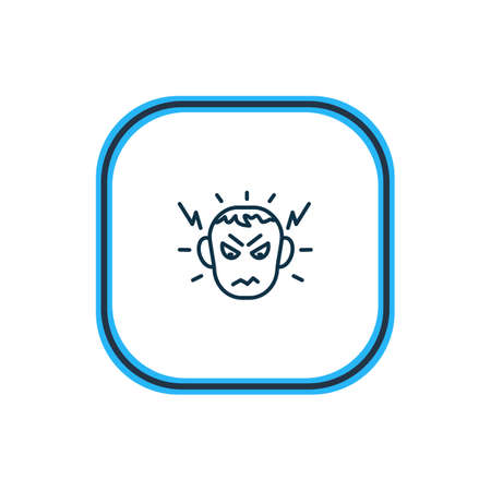 Vector illustration of anger icon line. Beautiful emotions element also can be used as hatred icon element.