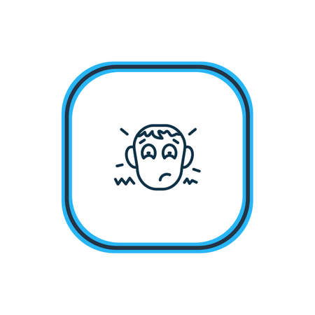 Vector illustration of disappointment icon line. Beautiful emoji element also can be used as worried icon element.