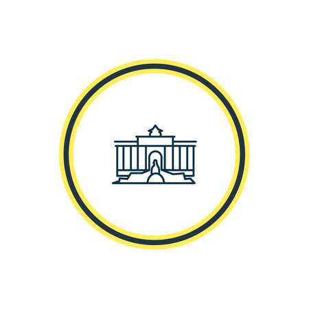 Vector illustration of trevi fountain icon line. Beautiful tourism element also can be used as tourism icon element. Vector Illustration