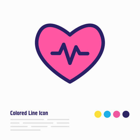 Vector illustration of heartbeat icon colored line. Beautiful hobby element also can be used as pulse icon element.