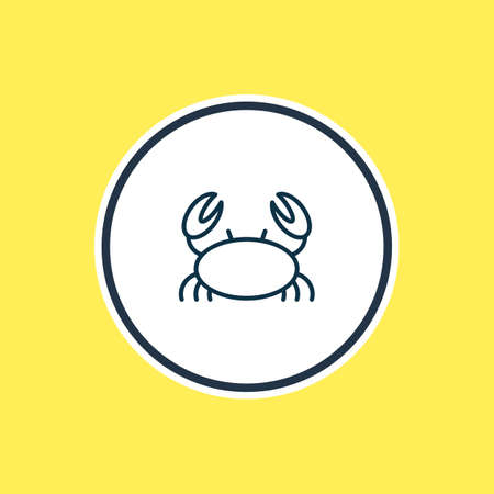 illustration of marine crab icon line. Beautiful marine element also can be used as cancer icon element. Stock Photo
