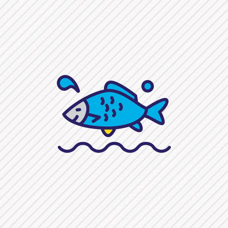 illustration of aquatic icon colored line. Beautiful sea element also can be used as carp fish icon element.