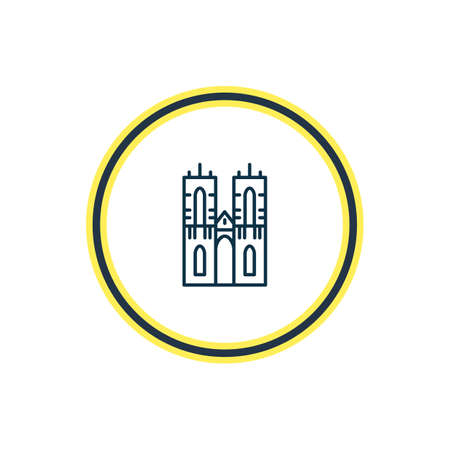 Vector illustration of westminster abbey icon line. Beautiful history element also can be used as castle icon element. Çizim
