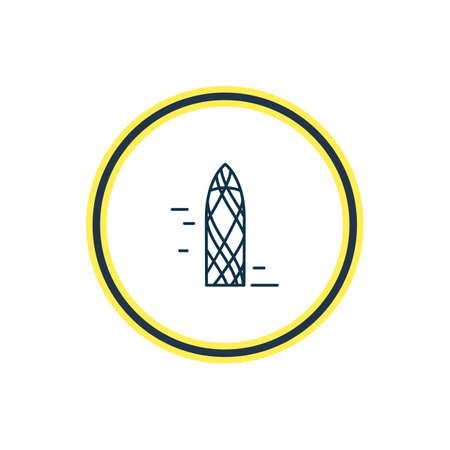 Vector illustration of the gherkin icon line. Beautiful world landmarks element also can be used as decoration icon element.