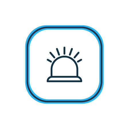 illustration of security icon line. Beautiful construction element also can be used as siren icon element. Stock Photo