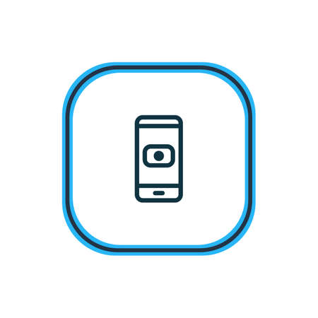 Vector illustration of camera icon line. Beautiful smartphone element also can be used as device icon element.