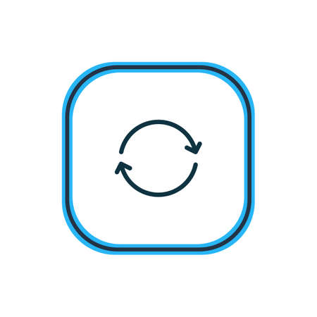 Vector illustration of sync icon line. Beautiful network element also can be used as synchronize icon element.