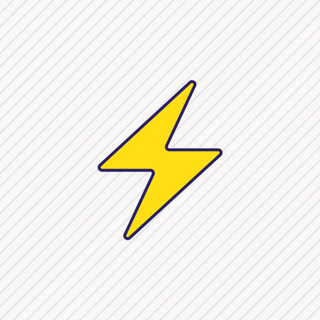 illustration of power icon colored line. Beautiful user element also can be used as lightning icon element.