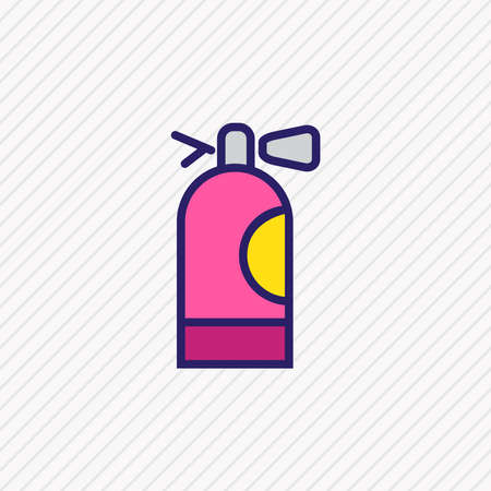 Vector illustration of fire extinguisher icon colored line. Beautiful element also can be used as flame safety icon element.
